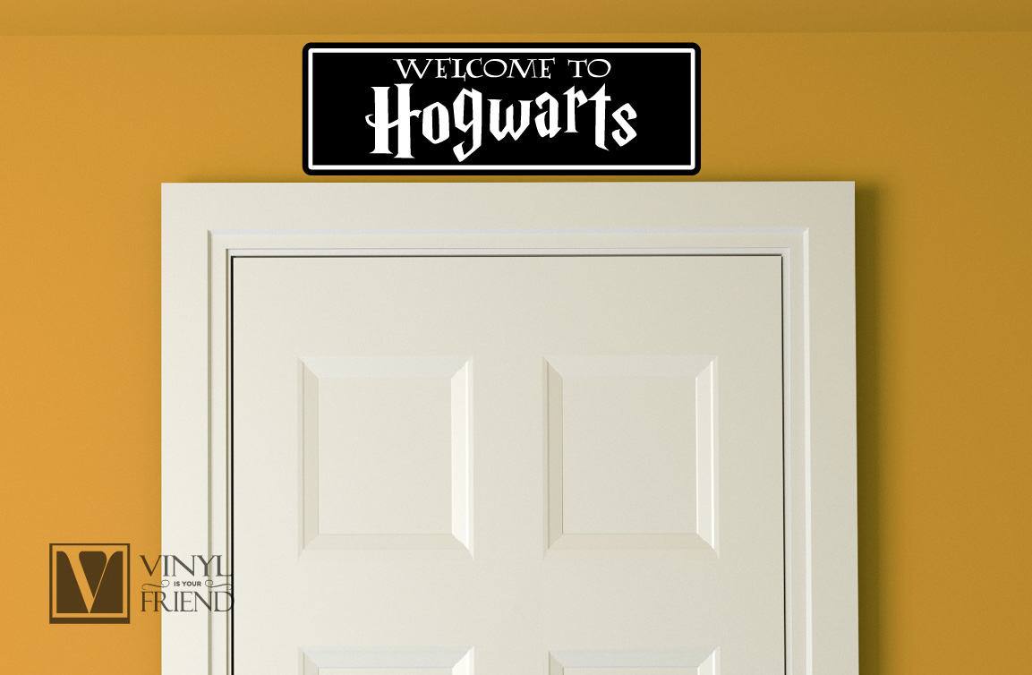 welcome wall decor shenra com welcome to hogwarts the shire and diagon ally geek and nerd street