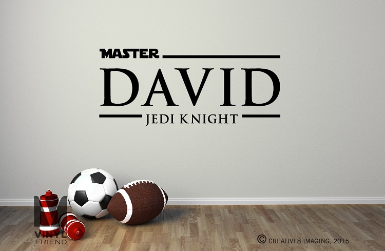 Star Wars Name Decal Quote Jedi Master Vinyl Wall Decals Etsy