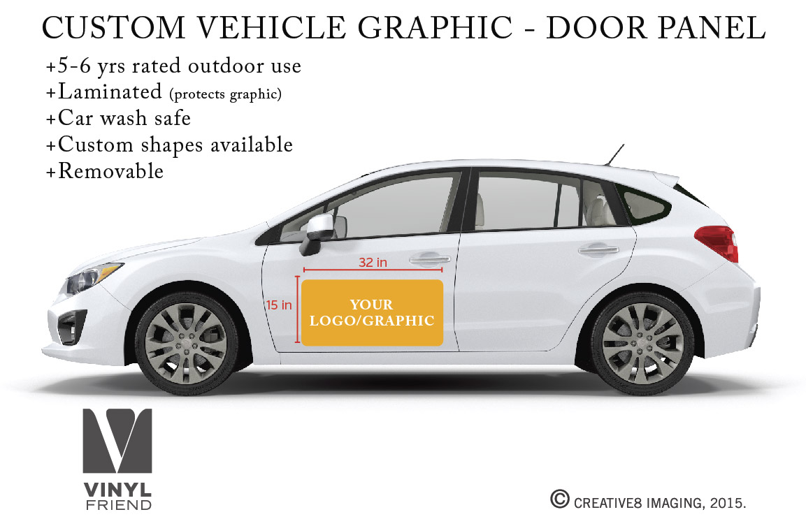 Your Logo Or Graphic Custom Vehicle Graphic Door Panel Vehicle - Custom decal graphics on vehicles