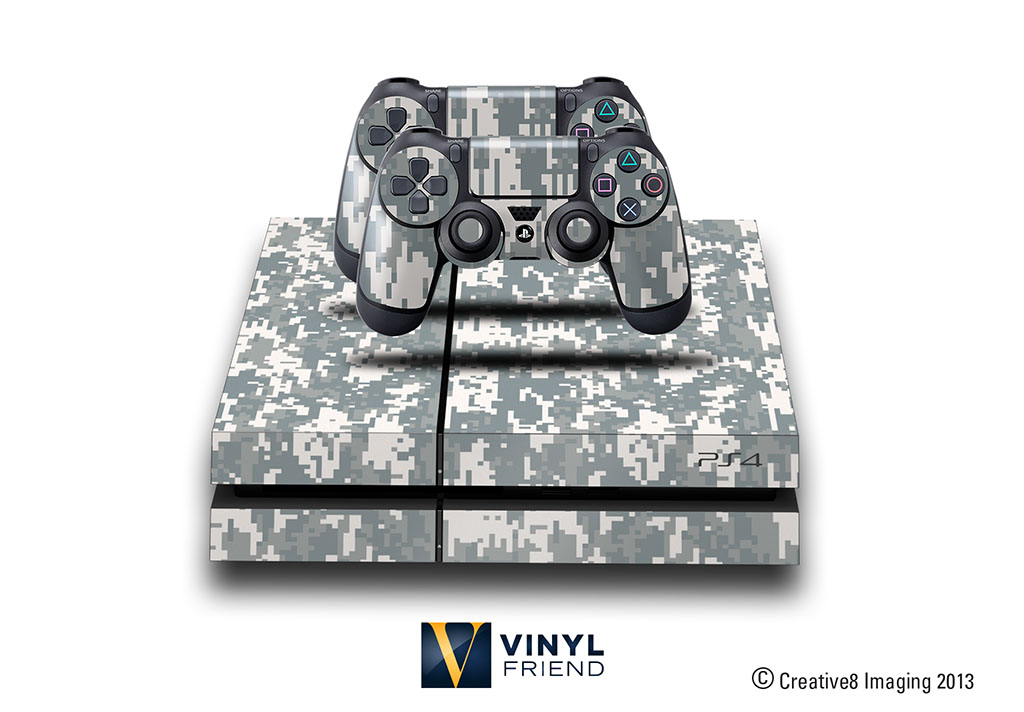 e skins play station 4 ps4 gaming console skin military digital