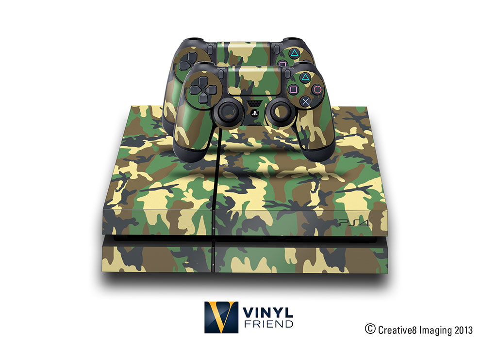 E Skins Play Station 4 Ps4 Gaming Console Skin Military