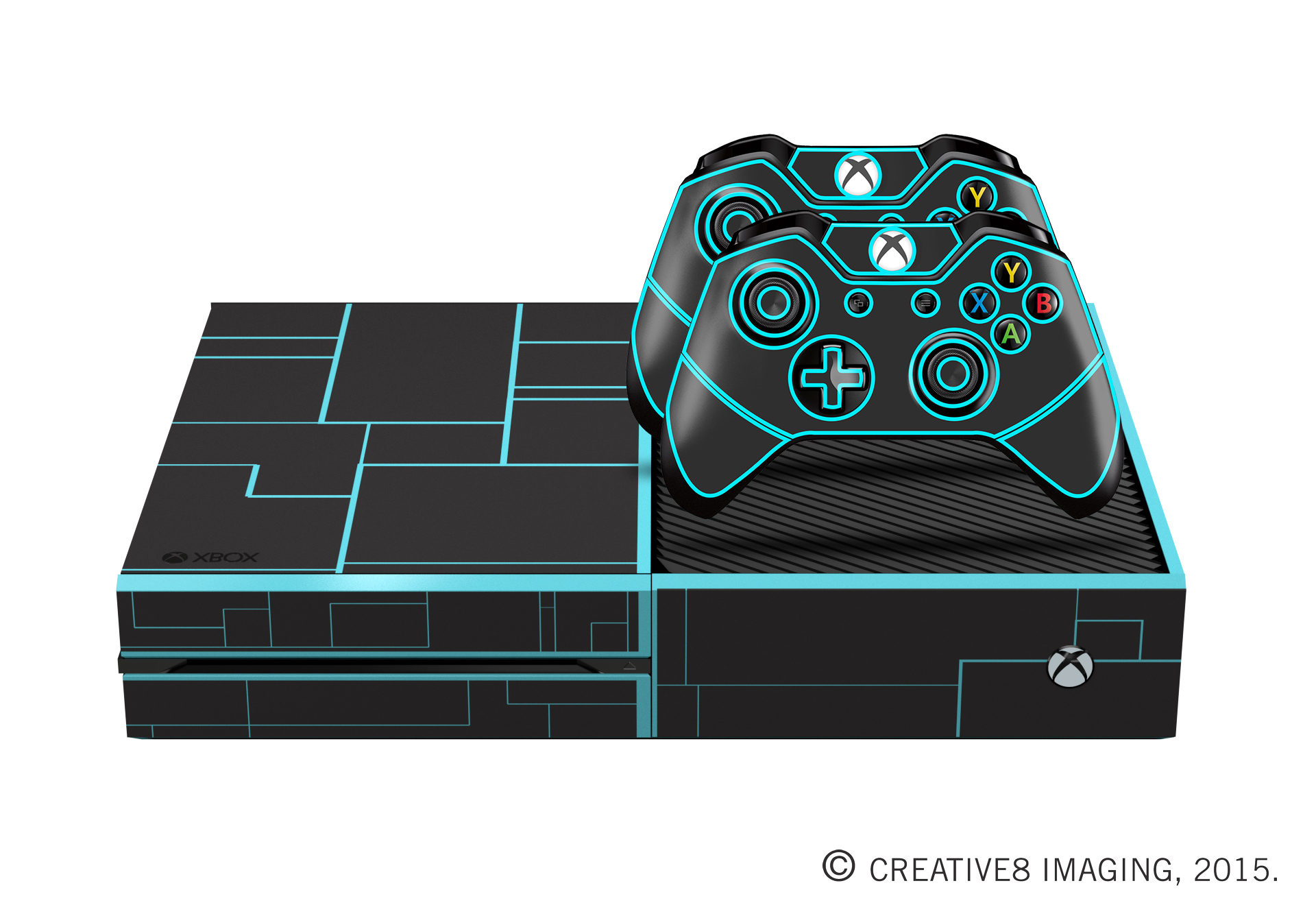 E-SKINS Xbox One gaming console skin sci-fi tron theme decals