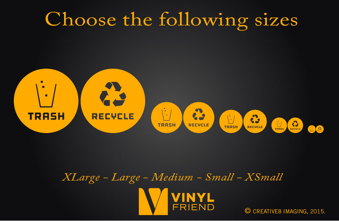 Recycle and trash logo symbol for trash cans containers and walls ...