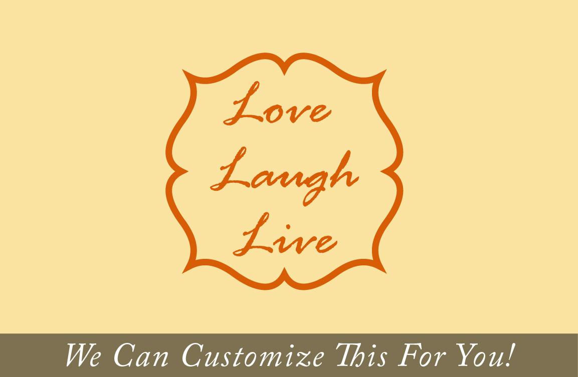 Modern Live Love Laugh Wall Decor Wood Illustration - The Wall Art ...