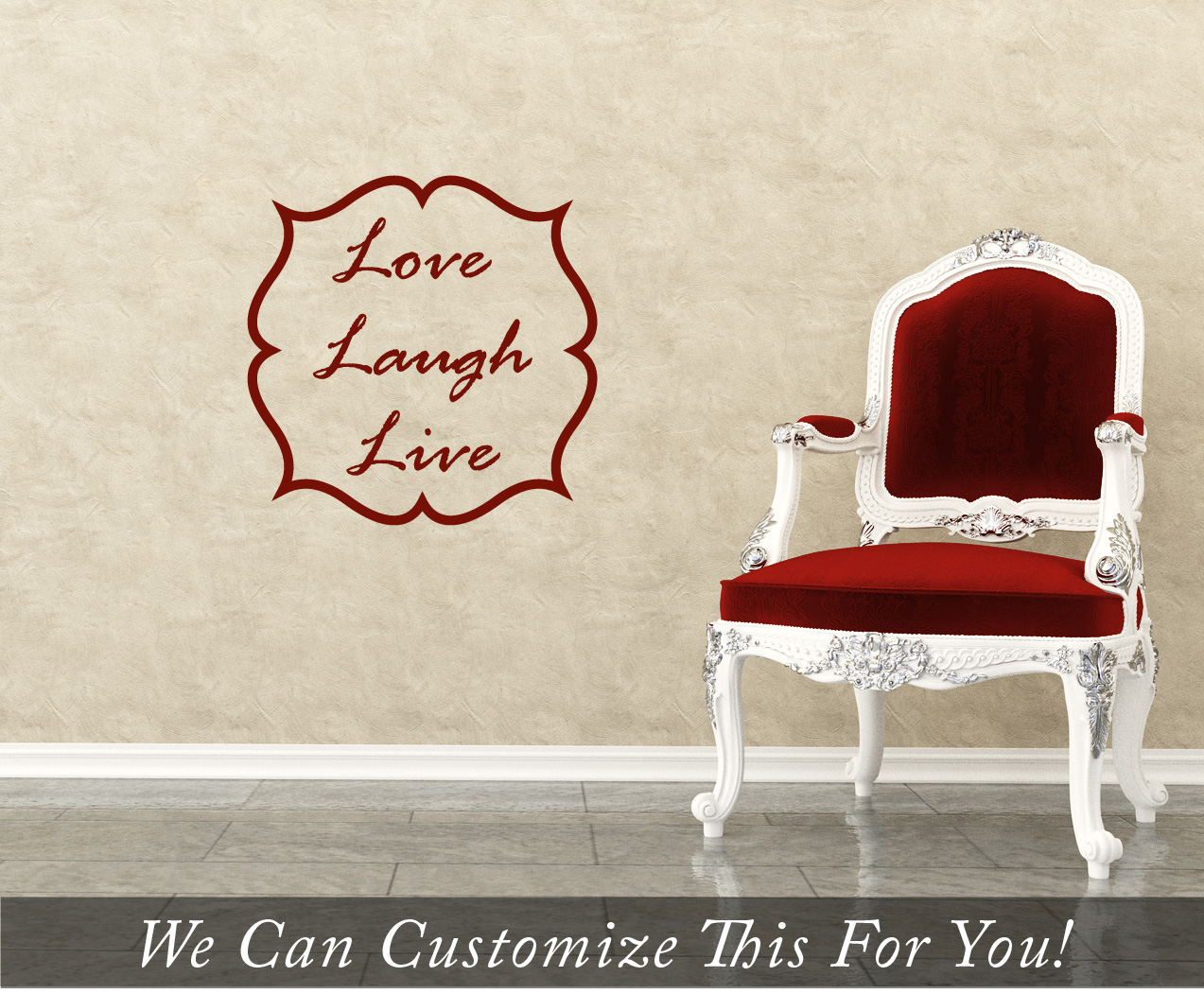 Live Laugh Love Wall Decor Live Laugh Love Words With Border  A Wall Decor Vinyl Lettering