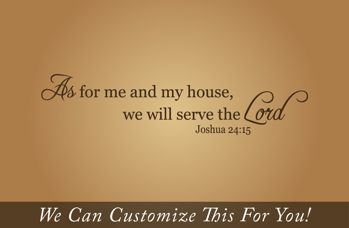 Wall Decor As For Me And My House We Will Serve The Lord A Wall
