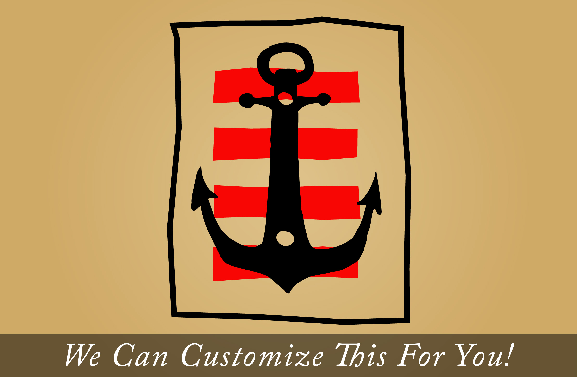 Pirate Decor A boat anchor with strips antiqued and stylized for you ...