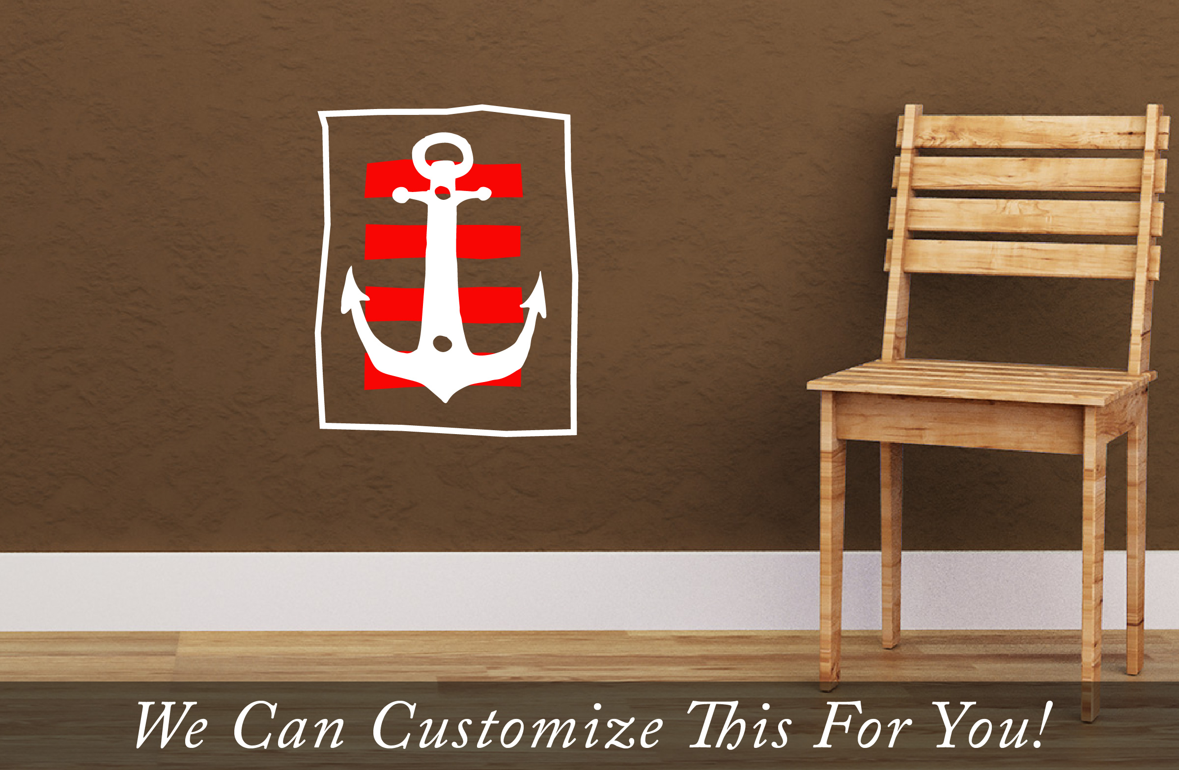 Pirate Decor A Boat Anchor With Strips Antiqued And