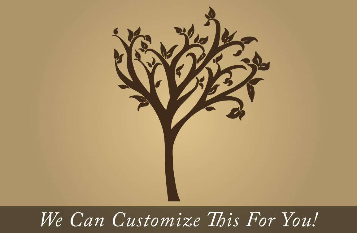 Vinyl Wall Decor Trees : Tree wall decor decal with leaves a vinyl