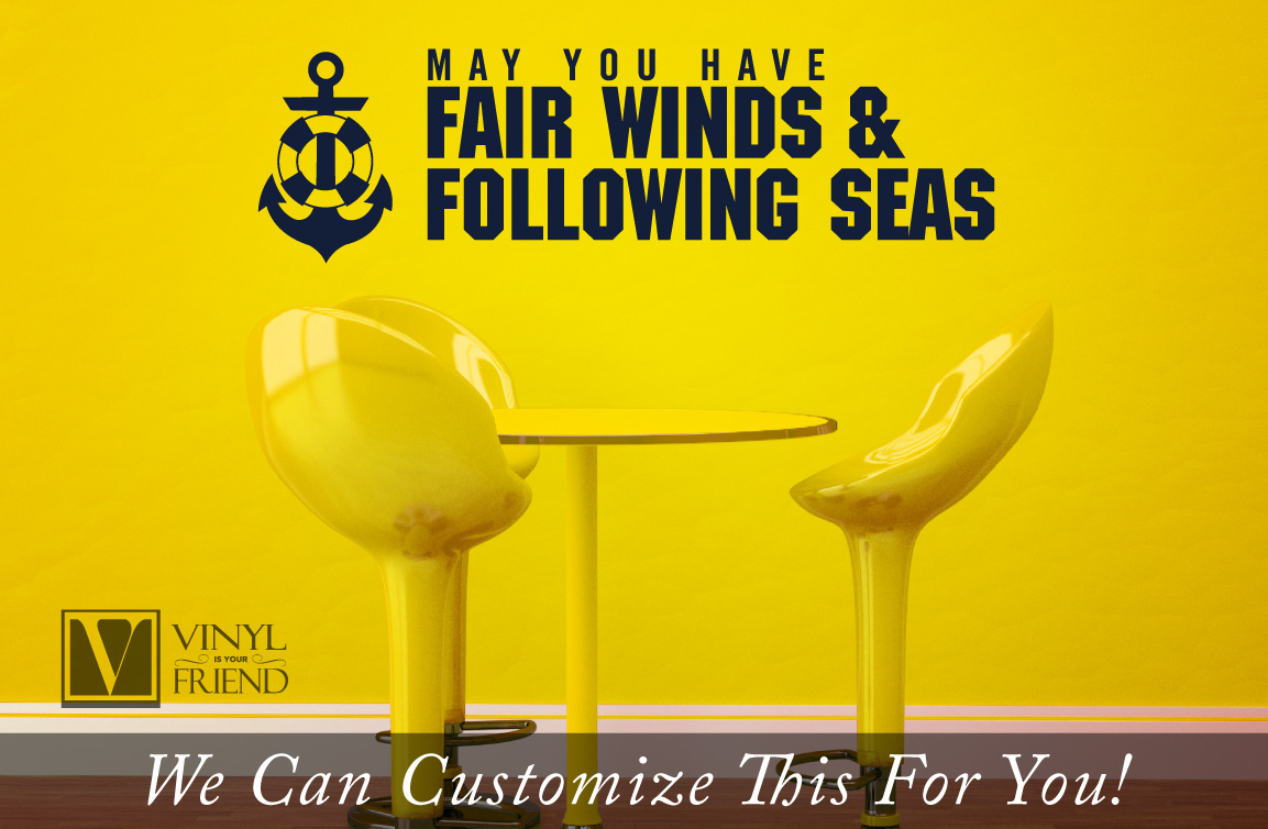 Fair winds and following seas greeting for navy or seaman with ...
