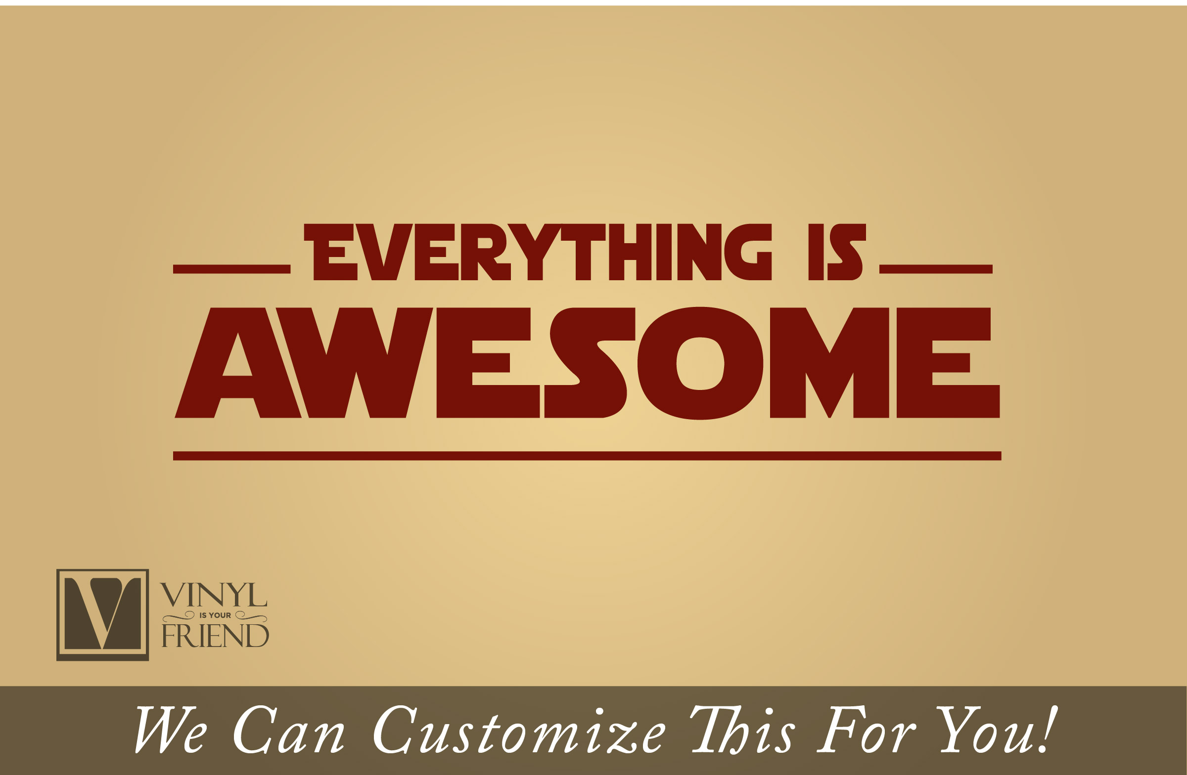 Everything is awesome song wall Decor vinyl lettering decal for ...