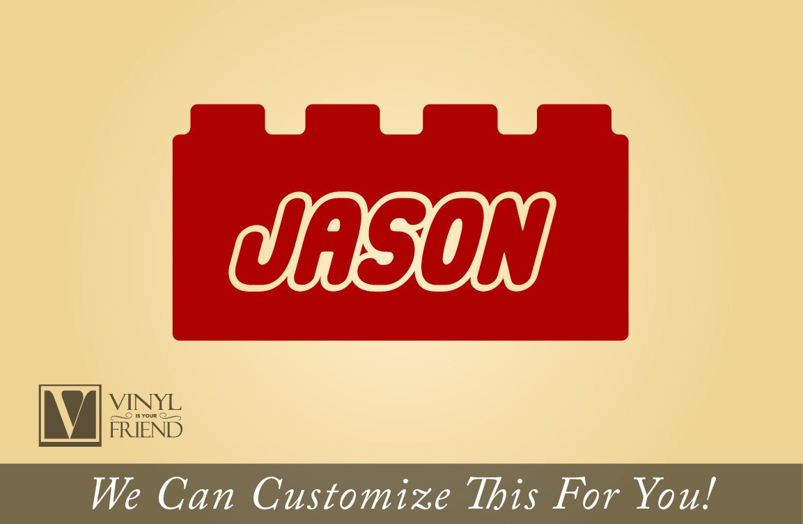 Brick with custom name wall decor vinyl decal lettering for you kids ...