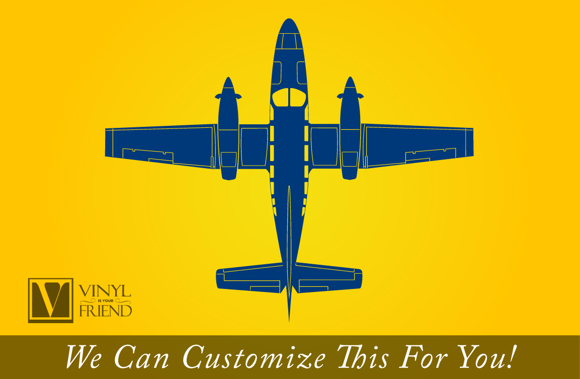 Private propeller jet plane silhouette top view DETAILED aviation ...