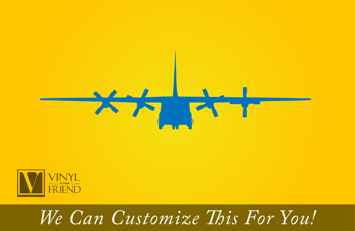 military Cargo plane quad engine propeller powered airplane front ...