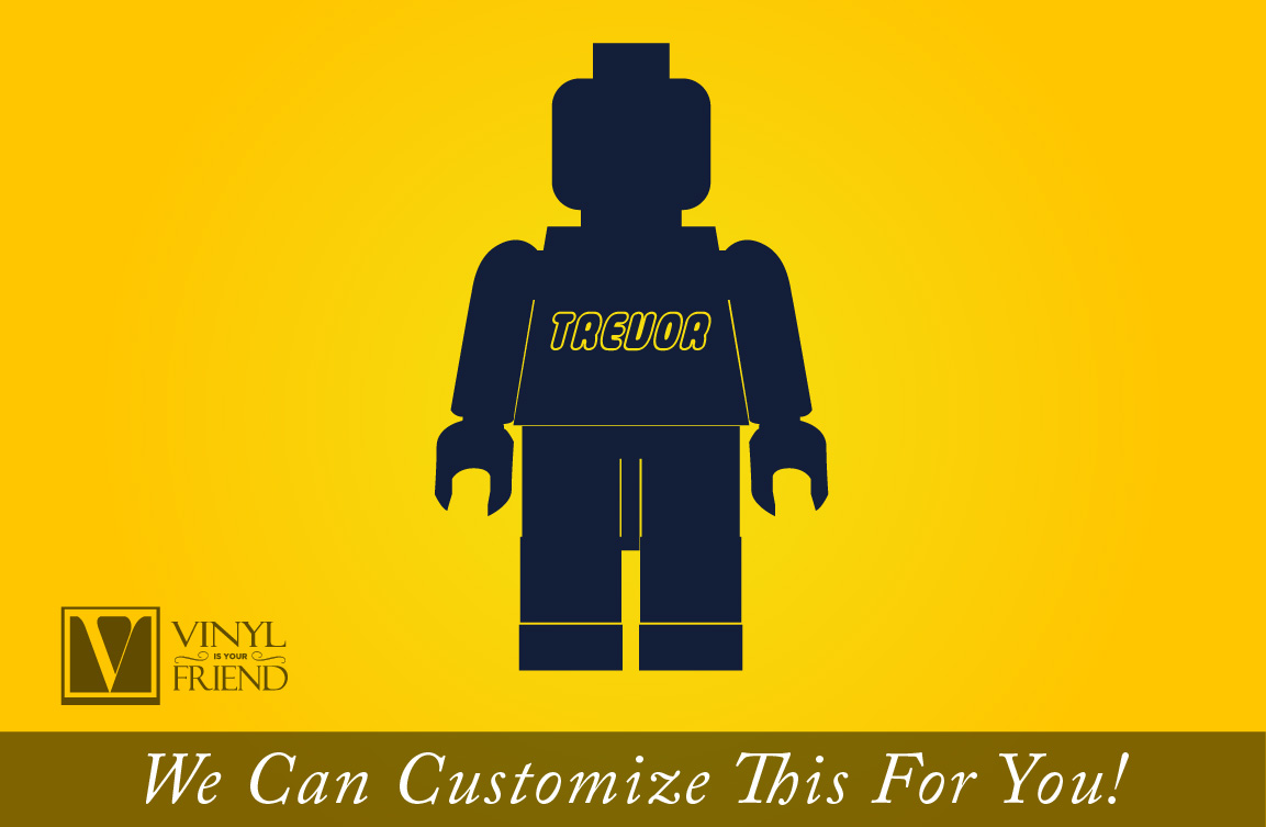 brick minifig figure custom name - a wall decor vinyl decal ...