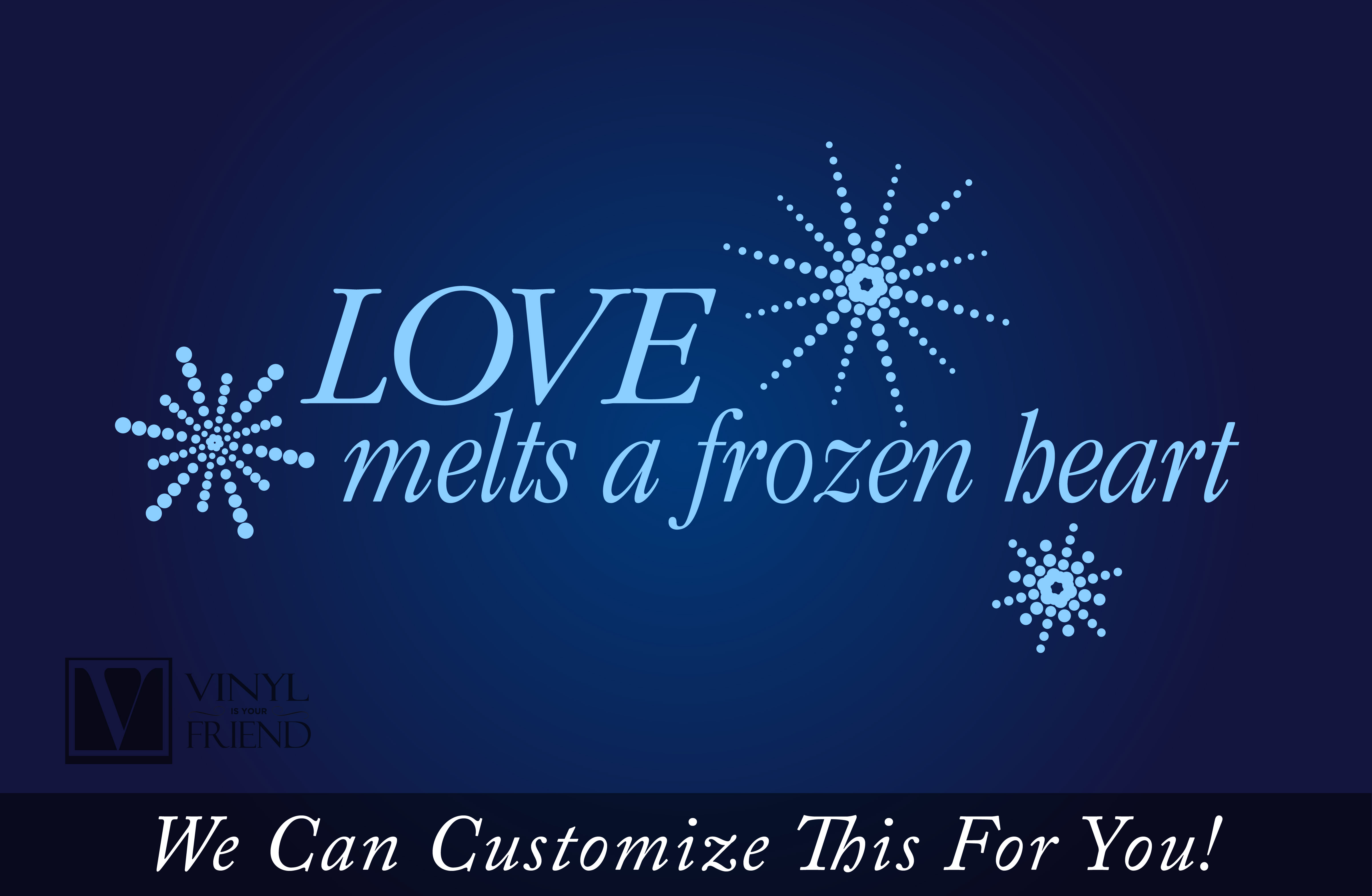 Snowflake Love Quotes Fair Love Melts A Frozen Heart From Frozen With Snowflakes  A Wall