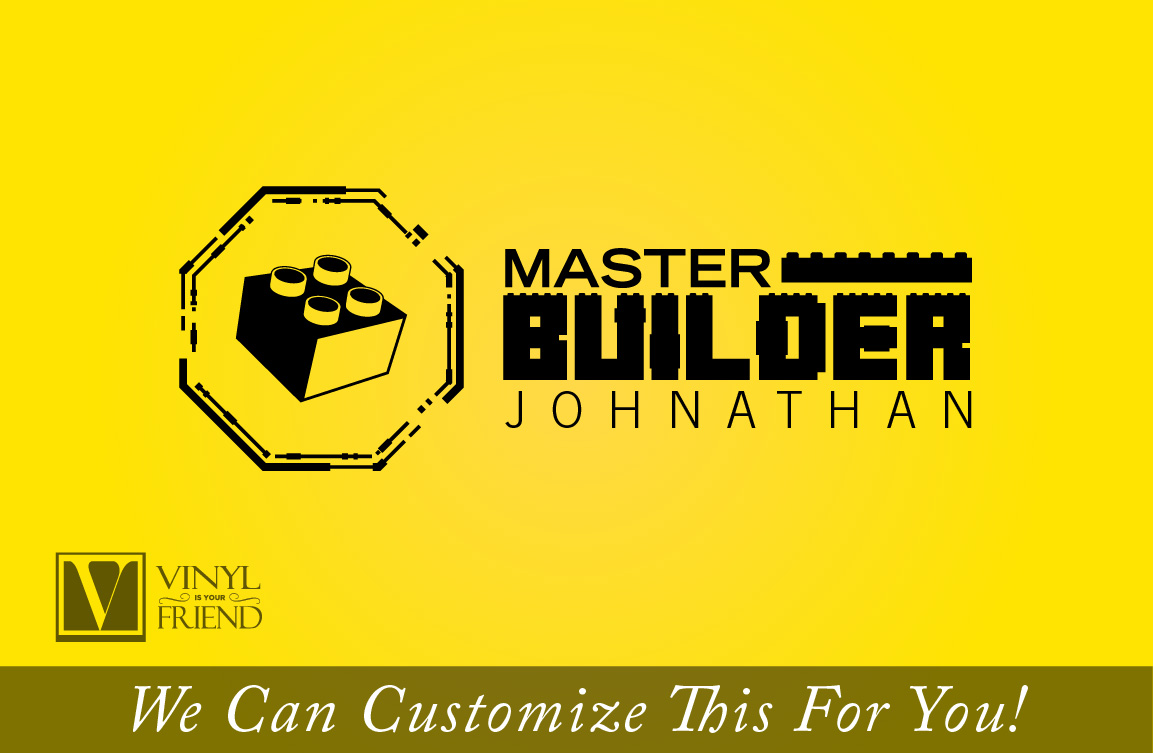 Master Builder custom name wall decor a vinyl decal sticker for that ...