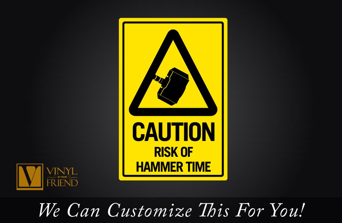 Thor CAUTION risk of hammer time ( Mjölnir ) traffic / road sign an ...