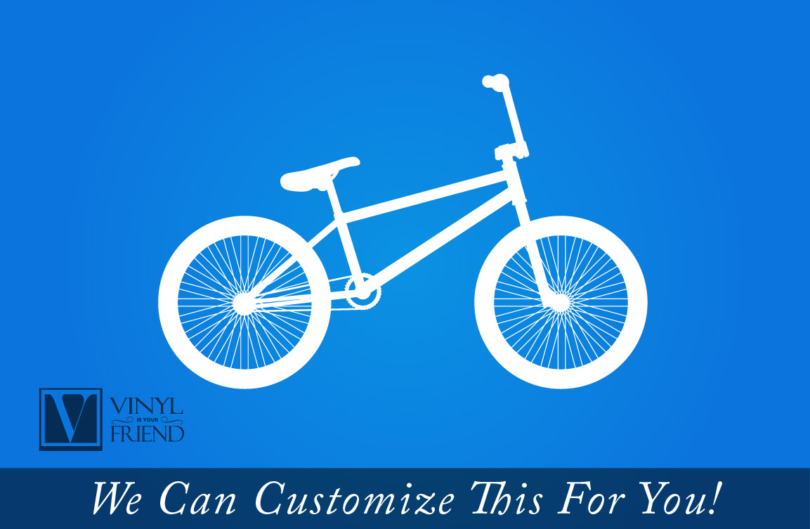 BMX Road Bicycle Wall Vinyl Decal Graphic A Sports Wall Decor For - Custom vinyl decals for bicycles