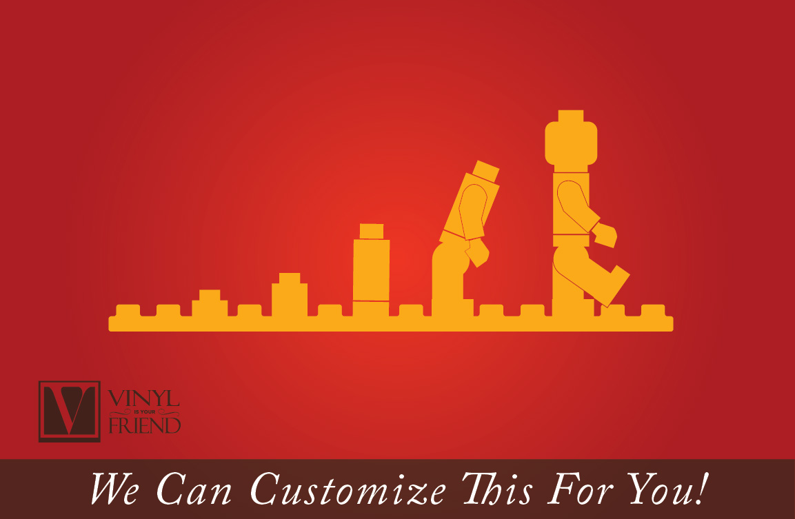 evolution of the brick man wall decor vinyl decal graphic sticker quick view