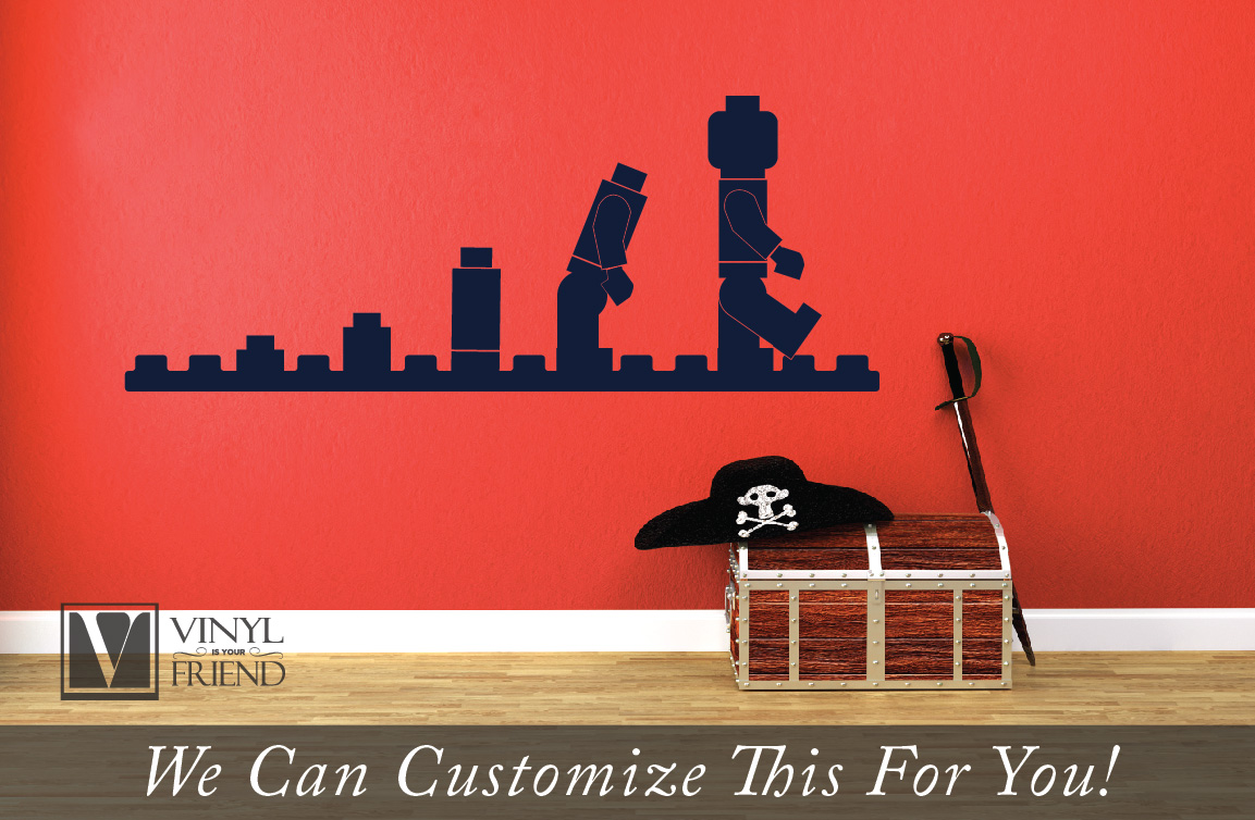 Evolution Of The Brick Man Wall Decor Vinyl Decal Graphic Sticker For Builders And Kids Rooms 2472