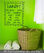 Laundry pre-treat today, sort tomorrow, wash later hand writting wall decor vinyl decal lettering for laundry room 2006