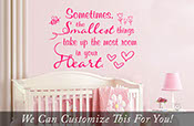 Sometimes the smallest things take up the most room in your heart Winnie the pooh quote - a wall decor vinyl decal nursery or babyroom 2024