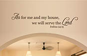 Wall decor - As for me and my house, we will serve the Lord a wall art sticker decal 2046