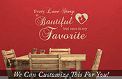 Every Love Story Is Beautiful ours is my favorite words with heart and couple silhouette wall decor quote wall decal lettering 2055