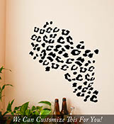 wild Leopard spots 80 piece pattern set animal wall vinyl decal bedroom medium 2057