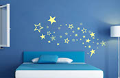 Stars decal pack set over 75 Stars of various sizes and styles from 1 to 7 inch vinyl wall decal stickers 2065