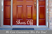 Shoes off door vinyl lettering for your guests small 22.5 x 7 2104