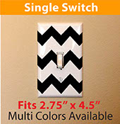 chevron pattern zigzag light switch cover decal sticker for your home single switch 2106