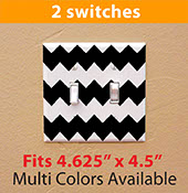 chevron pattern zigzag light switch cover decal sticker for your home two / double switch 2107