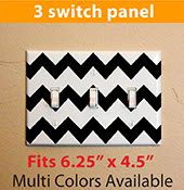 chevron pattern zigzag light switch cover decal sticker for your home three switch 2109