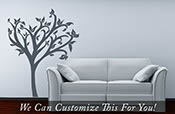 Tree wall decor decal with leaves - a wall vinyl decor graphic art for home decor handmade X-Large 2170
