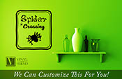 Spider Crossing Halloween vinyl decal sign for your home decor 2209
