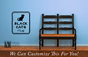 Black Cats only halloween vinyl decal sign for you homes decor 2213