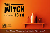 The Witch is in halloween wall vinyl lettering decal home decor 2220