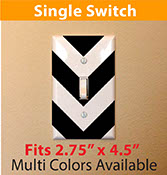 chevron pattern Large zigzag light switch cover decal sticker for your home single switch 2258