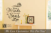 Fair winds and following seas greeting for those at sea and on water a navy seaman a wall decor vinyl lettering decal word quote 2275