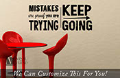 mistakes are proof you are trying keep going chalk board fonts style a wall decor lettering vinyl decal word 2280