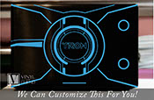 Tron Legacy Laptop cover theme identity disc light disc vinyl decal sticker sci fi art 2290