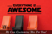 Everything is awesome song wall Decor vinyl lettering decal for kids bedroom brick builder theme LARGE 2291