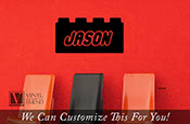 Brick with custom name wall decor vinyl decal lettering for you kids brick builder theme room  2300