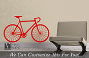 Road race bicycle wall vinyl graphic art a sports wall decor for bikers and bike fans various sizes XS-XL 2345