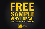 SAMPLE sticker Vinyl Decals order item 70+ colors and 17 designs - a Wall decor and vinyl decal stickers graphics store 2360