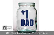 number # 1 Dad father days decor for the best dads in the world a wall decor or Glass vinyl decal sticker 2409