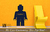 brick minifig figure custom name - a wall decor vinyl decal lettering word for that brick builders room 2421