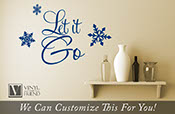 Let it Go quote from the movie Frozen - a home wall decor vinyl lettering decal word 2433